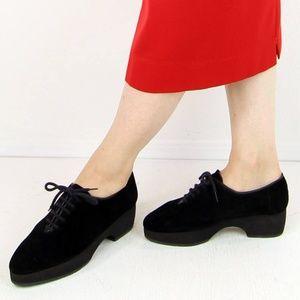 Suede vintage Yves Sain Laurent platform shoes